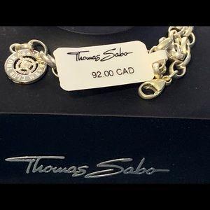 NWT Thomas Sabo Sterling Slvr  Bracelet w Diamonds